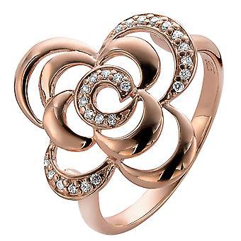 Rosa de Orphelia plata 925 anillo circonio ZR-3939/1