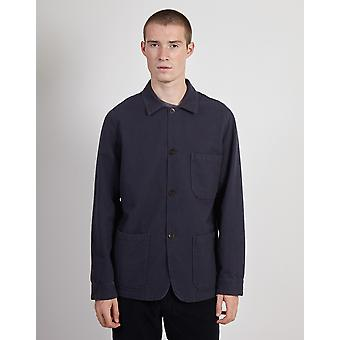 Portuguese Flannel Pinhero Overshirt Navy