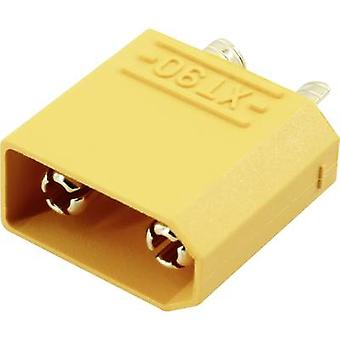 Battery plug XT90 Gold-plated 1 pc(s) Reely