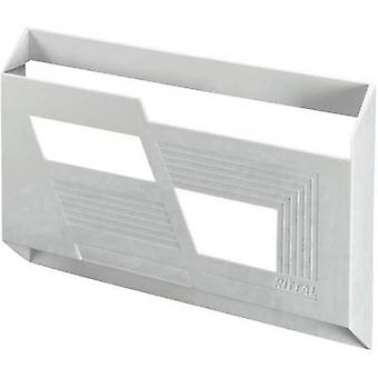 Rittal 2513.000 Switch Triangular Plate Made Of Plastic Polystyrene with self-adhesive mounting rails. Light grey (RAL