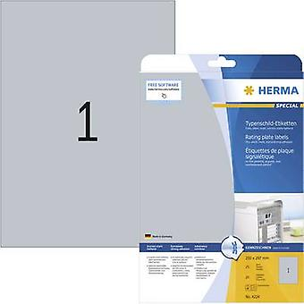 Herma 4224 Labels 210 x 297 mm Polyester film Silv