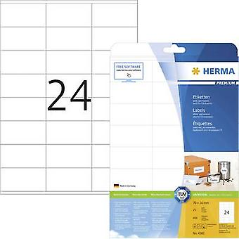 Herma 4360 Labels 70 x 36 mm Paper White
