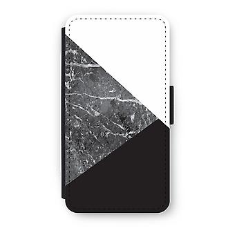 iPhone XS Flip Case - Marble combination