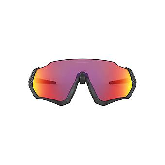 Oakley Flight Jacket Sunglasses In Matte Black Prizm Road