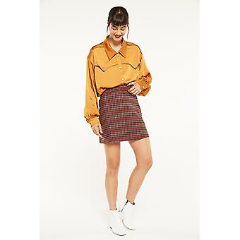 Side Party Houndstooth Mini Skirt