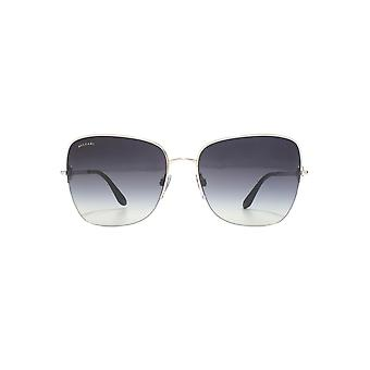 Bvlgari Metal Square Sunglasses In Silver