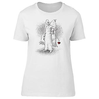 Angel Losing Heart Accidentally Tee Women's -Image by Shutterstock