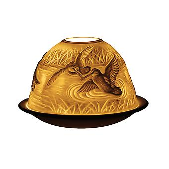 Light Glow Dome Tealight Holder, Woodcock