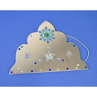SALE -  100 Silver Mirror Card Tiaras to Decorate | Crown Making Crafts for Kids
