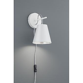 Trio Lighting Andreus Modern White Matt Metal Wall Lamp