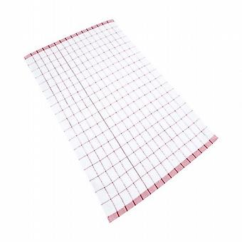 Caraselle Deluxe Tea Towel Red Check Cotton and Microfibre 40x60cm