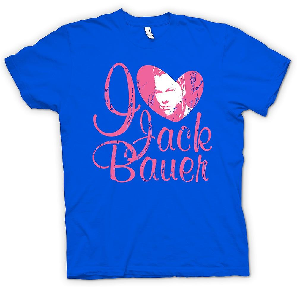 Heren T-shirt - Ik hou van Jack Bauer 24 - Keifer - Tv - film