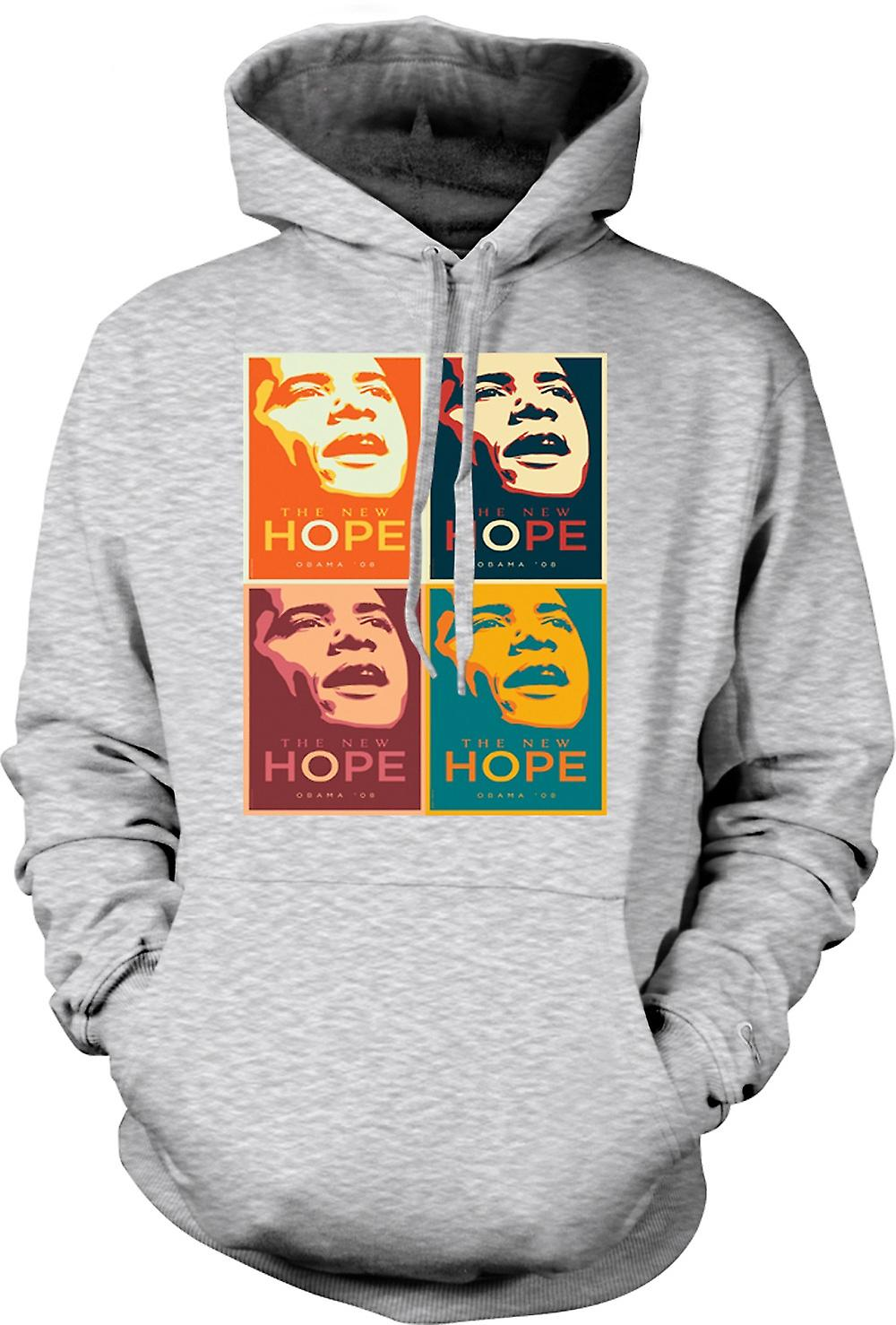 Mens Hoodie - Obama 08 New Hope - Warhol