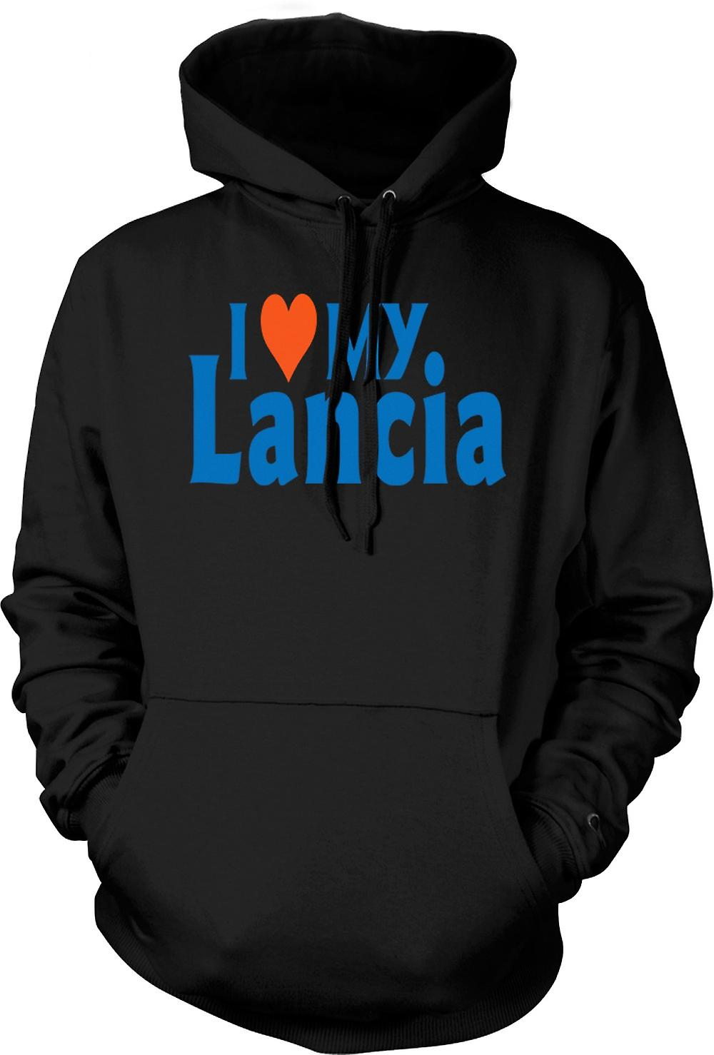 Mens Hoodie - I Love My Lancia - Car Enthusiast