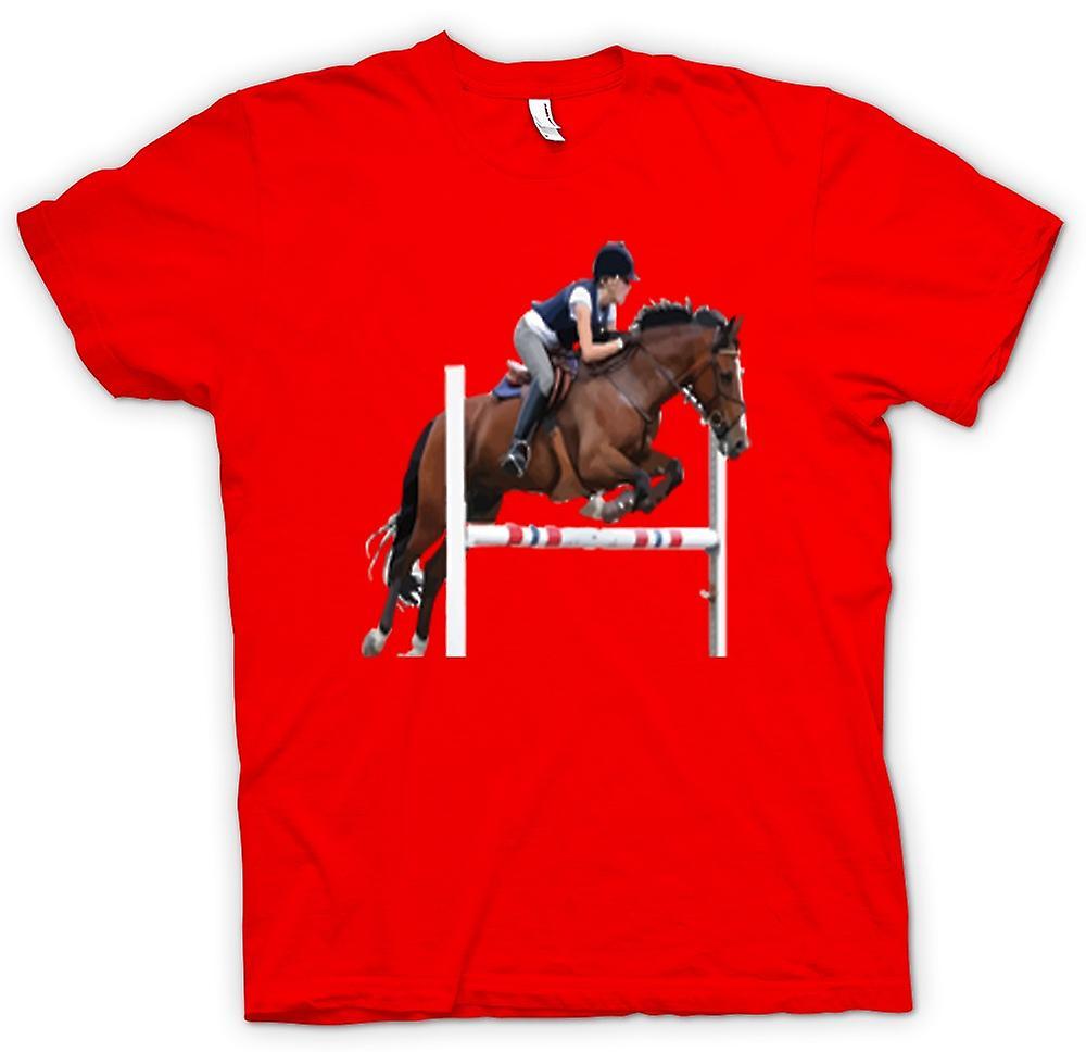 Herr T-shirt-hoppning häst
