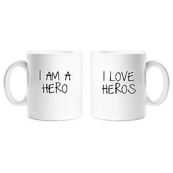 Par Krus sæt jeg er en Hero jeg elsker Heros
