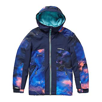 ONeill Pink Aop-Blue Allure Girls Snowboarding Jacket