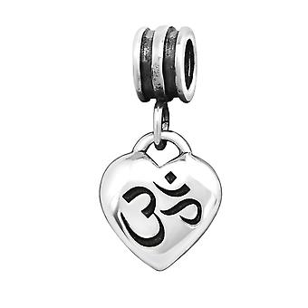 Om Symbol - 925 Sterling Silver Plain Beads - W12377X