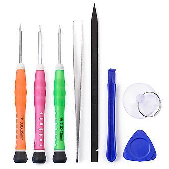 8st Tool Kit för alla iPhone modeller - inkluderar Pentelobe skruvmejsel & pincett