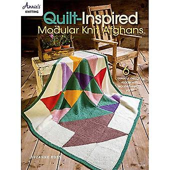 Quilt Inspired Modular Knit� Afghans: 6 Colorful Designs Made with Worsted-Weight Yarn!