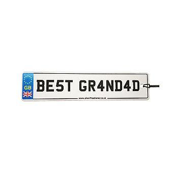 Best Grandad Numberplate Car Air Freshener