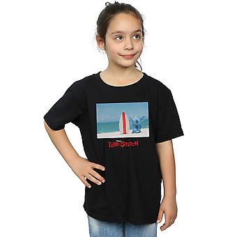 Disney Girls Lilo And Stitch Surf Beach T-Shirt