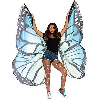 Monarch vinger blå