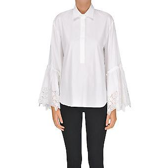 P.a.r.o.s.h. White Cotton Shirt
