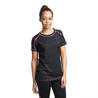 Traspaso mujeres Mamo TP50 activo rápido secado deportes T Shirt