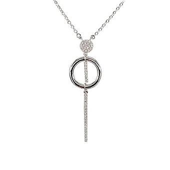 Ah! Bijoux en argent Collier pendentif goutte avec cristaux de Swarovski rond