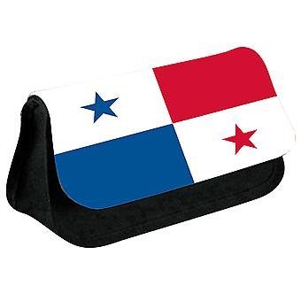 Panama Flag Printed Design Pencil Case for Stationary/Cosmetic - 0135 (Black) by i-Tronixs