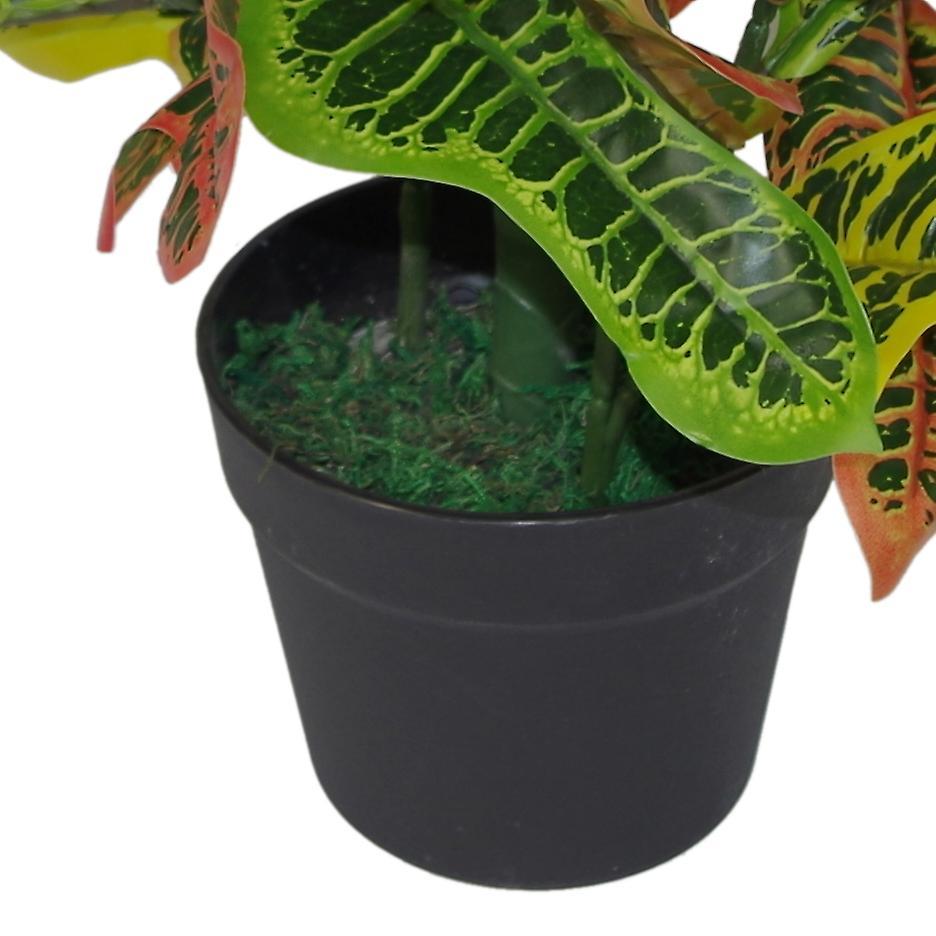 65cm Artificial Codiaeum Multicoloured House Plant