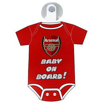 Arsenal Baby On Board Sign