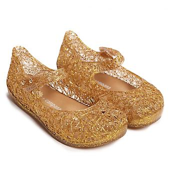 Melissa chaussures mini Campana zig zag 17 chaussures, paillettes d'or