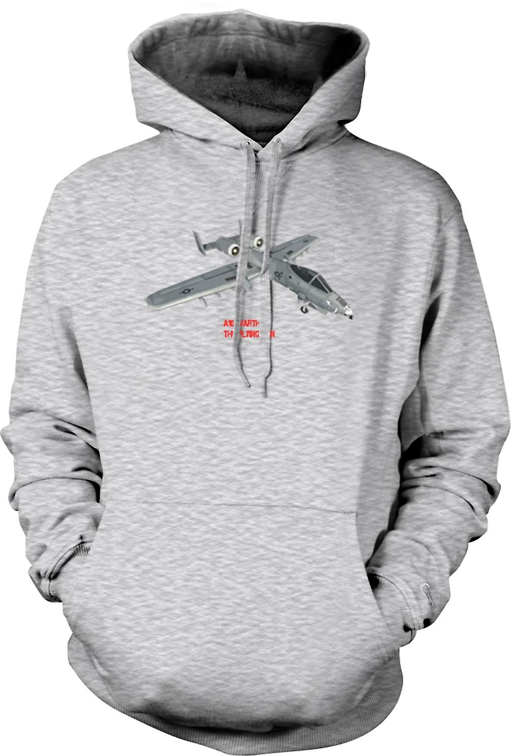 Mens Hoodie - A10 Warthog - The Flying Gun