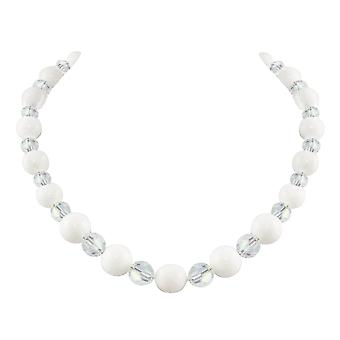 Eternal Collection Enchantment Mountain Jade And Aurora Borealis Crystal Beaded Necklace