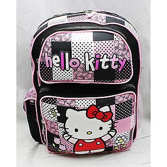 Backpack - Hello Kitty - Black/Pink Polka Dot (Large School Bag) New 82511