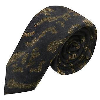 Luxury Persian Navy Blue Abstract Pattern Tie