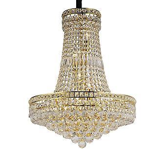 Diyas Frances Pendant 14 Light French Gold/Crystal