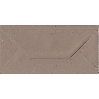 Fleck Kraft gommé DL colorés enveloppes brunes. 110gsm FSC papier durable. 110 mm x 220 mm. banquier Style enveloppe.