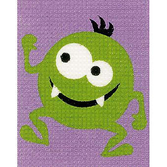 Green Little Monster Canvas Kit-5
