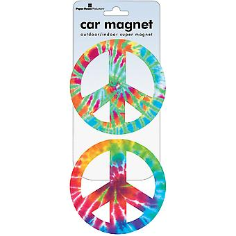Car Magnet Peace Signs  Tie Dye Mcar 1009E