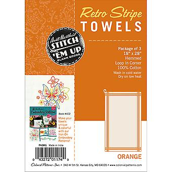 Stitch 'Em Up Vintage Box Stripe Dish Towels 18