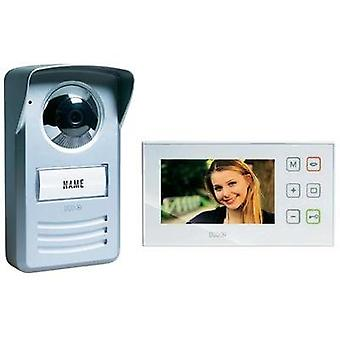 Video door intercom Corded Complete kit m-e modern-electronics PVD-4410 Silver, White