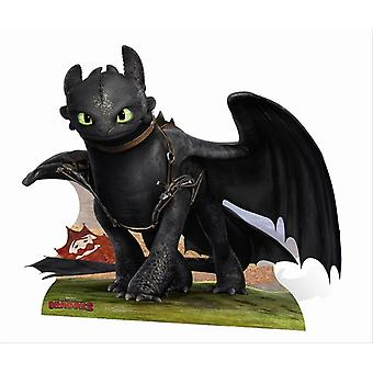 Toothless from How To Train Your Dragon 2 Mini Cardboard Cutout / Standee / Standup