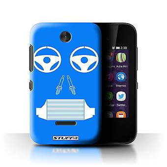 STUFF4 Case/Cover for Nokia Asha 230/Radiator/Blue/Car Part Faces