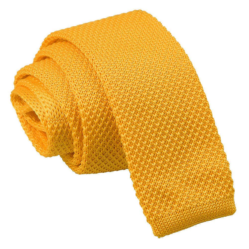 Marigold Yellow Skinny Knitted Tie