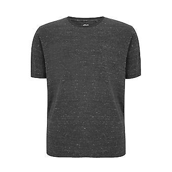 BadRhino Dark Grey Marl Short Sleeved Pocket T-Shirt - TALL
