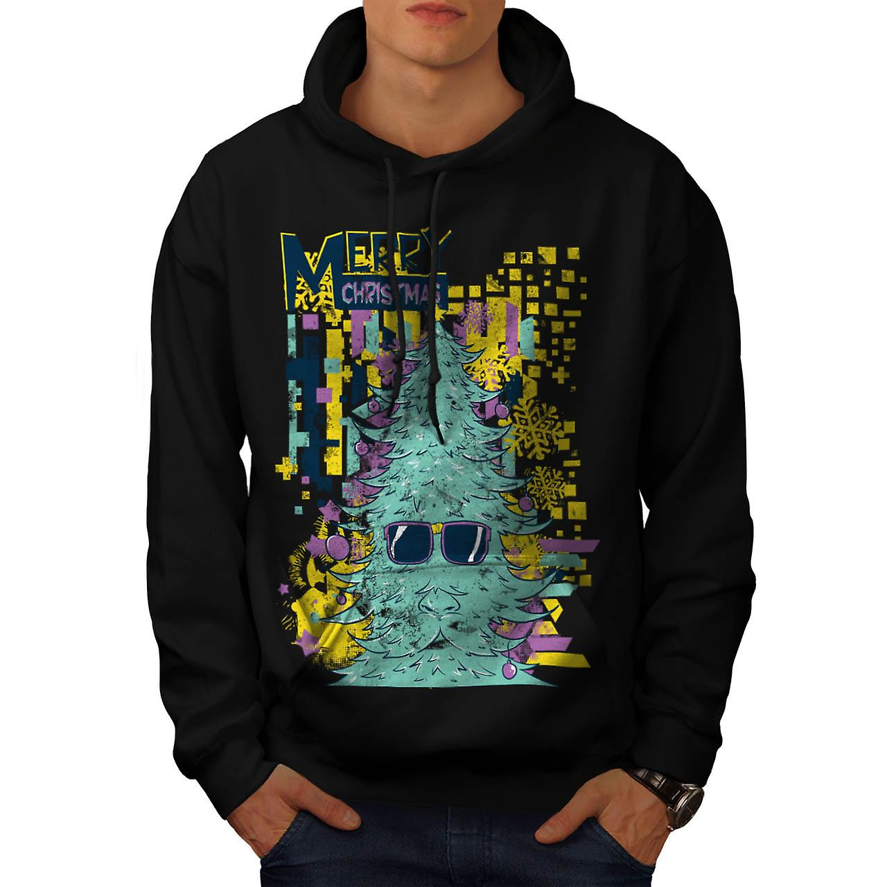 God jul Swag Xmas Tree män svarta Hoodie | Wellcoda