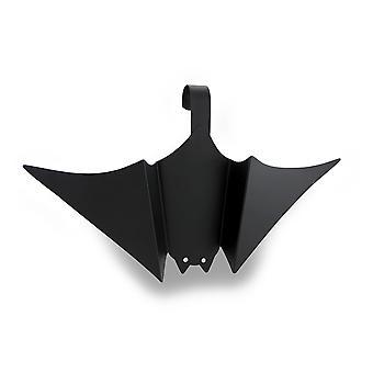 Black Tin Hanging Bat w/Faceted Jewel Eyes